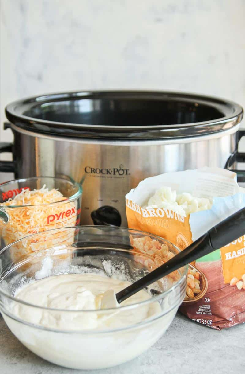 The most amazing slow cooker cheesy potatoes