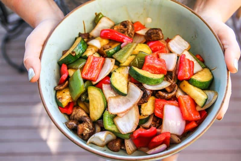 Balsamic Grilled Vegetables Side Dish Recipe Sweetphi