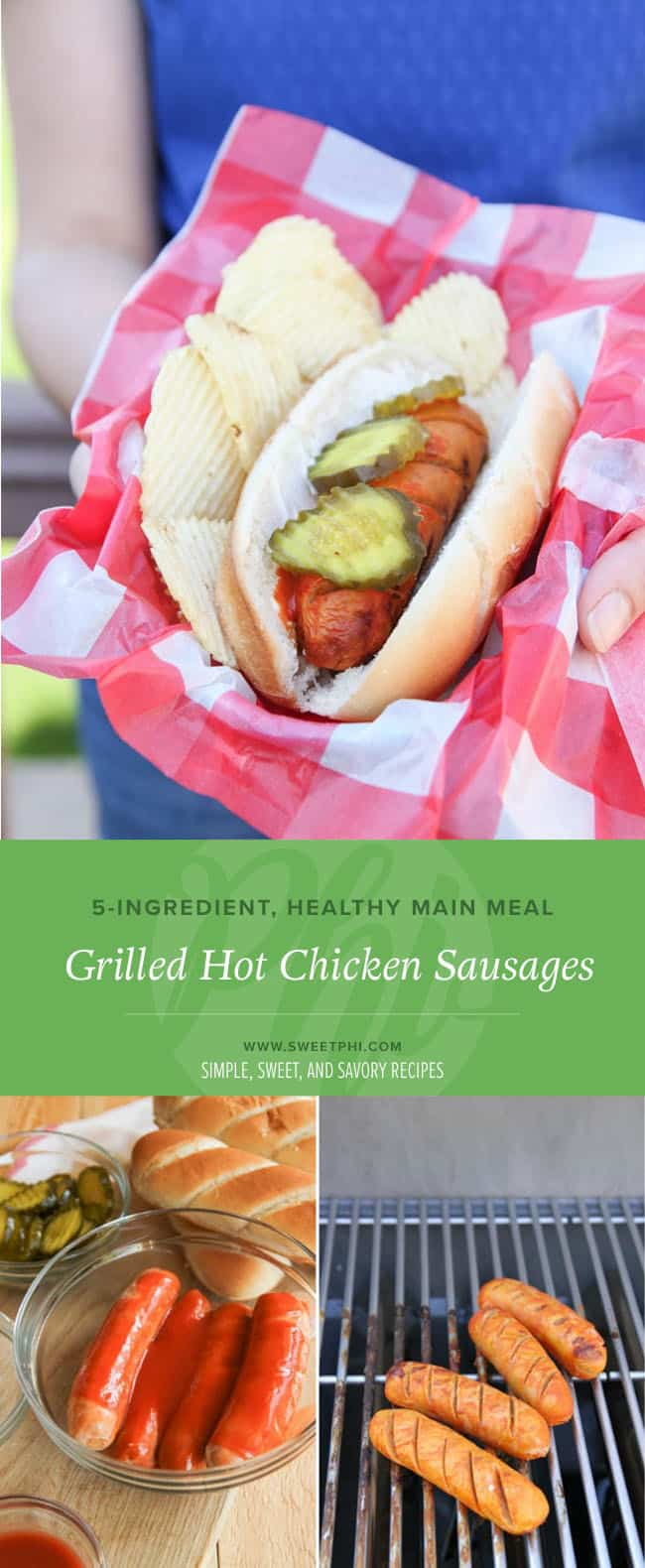 The most amazing grilled hot chicken sausages