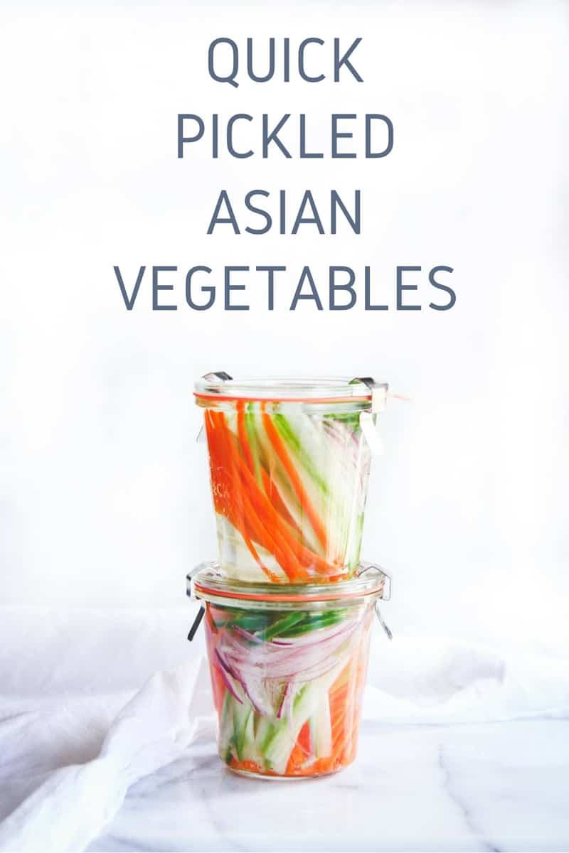 Quick Pickled Asian Vegetables - Sweetphi