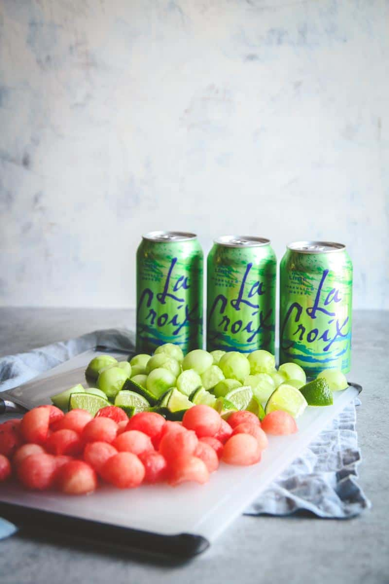 How to make a LaCroix drink recipe with cucumber and melon