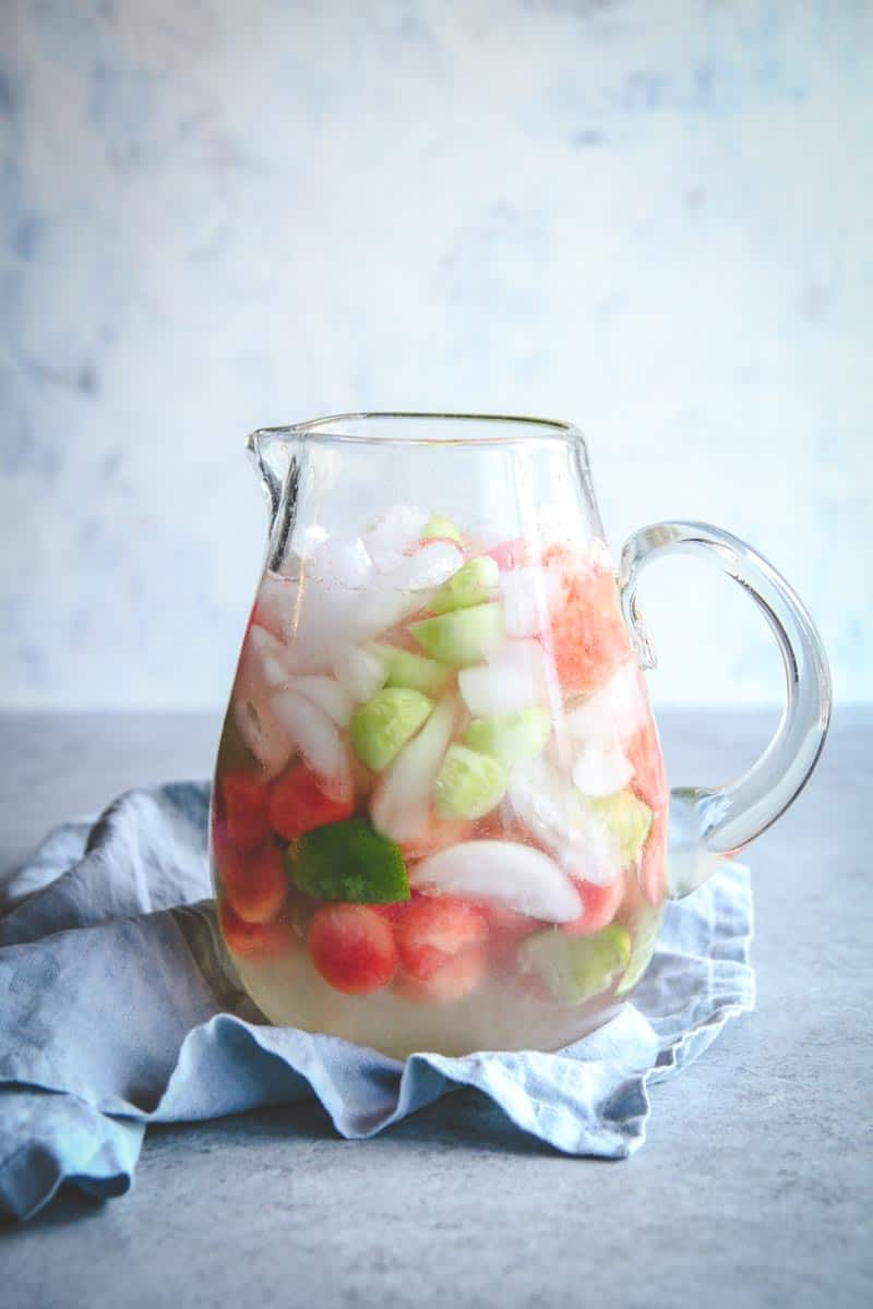The best Summer drink with cucumber and melon