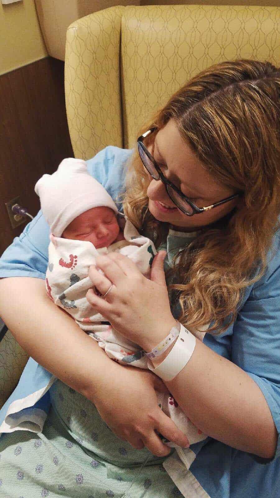 Baby Benedikt Kelnhofer on the day he was born