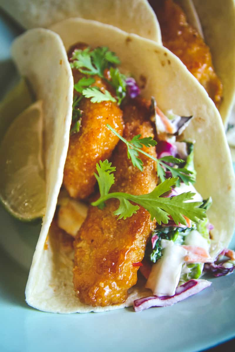 Easy sweet chili fish tacos recipe sweetphi for Making fish tacos