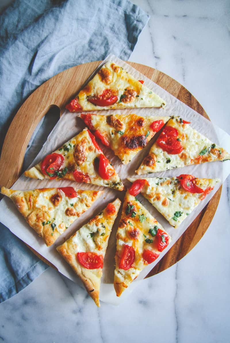The best ever fresh herb butter and cheese flatbread
