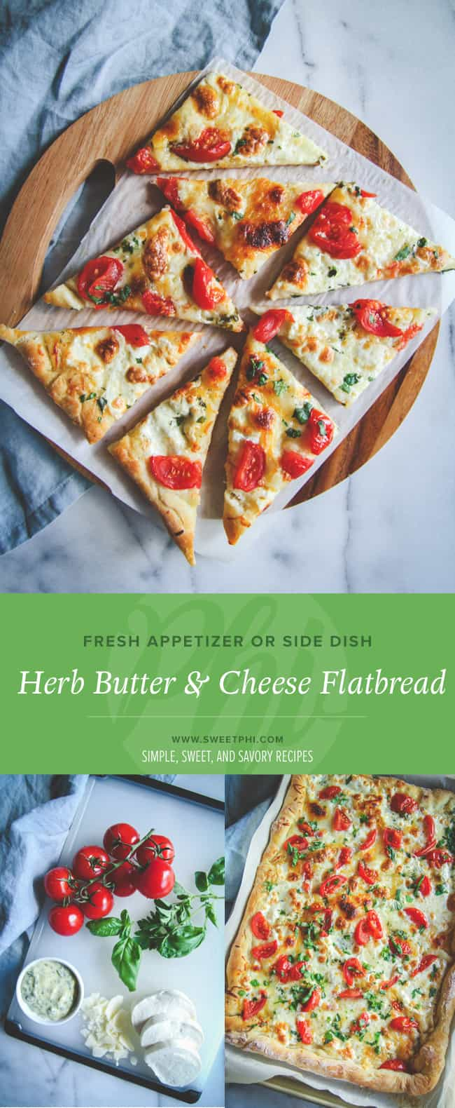 Make a tasty fresh herb butter to add to this flatbread