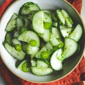 Easy cucumber salad recipe, a delicious vegetable side dish