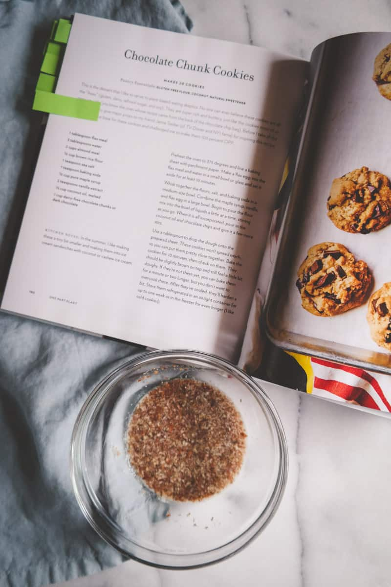 How to make a flax egg for gluten free vegan cookies