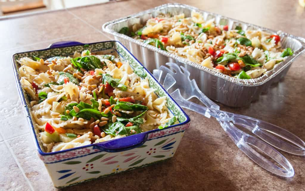 The best ever pasta salad for a potluck or party