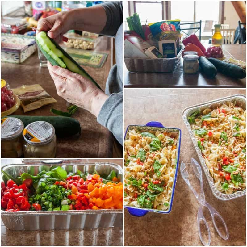 Making potluck pasta salad recipe