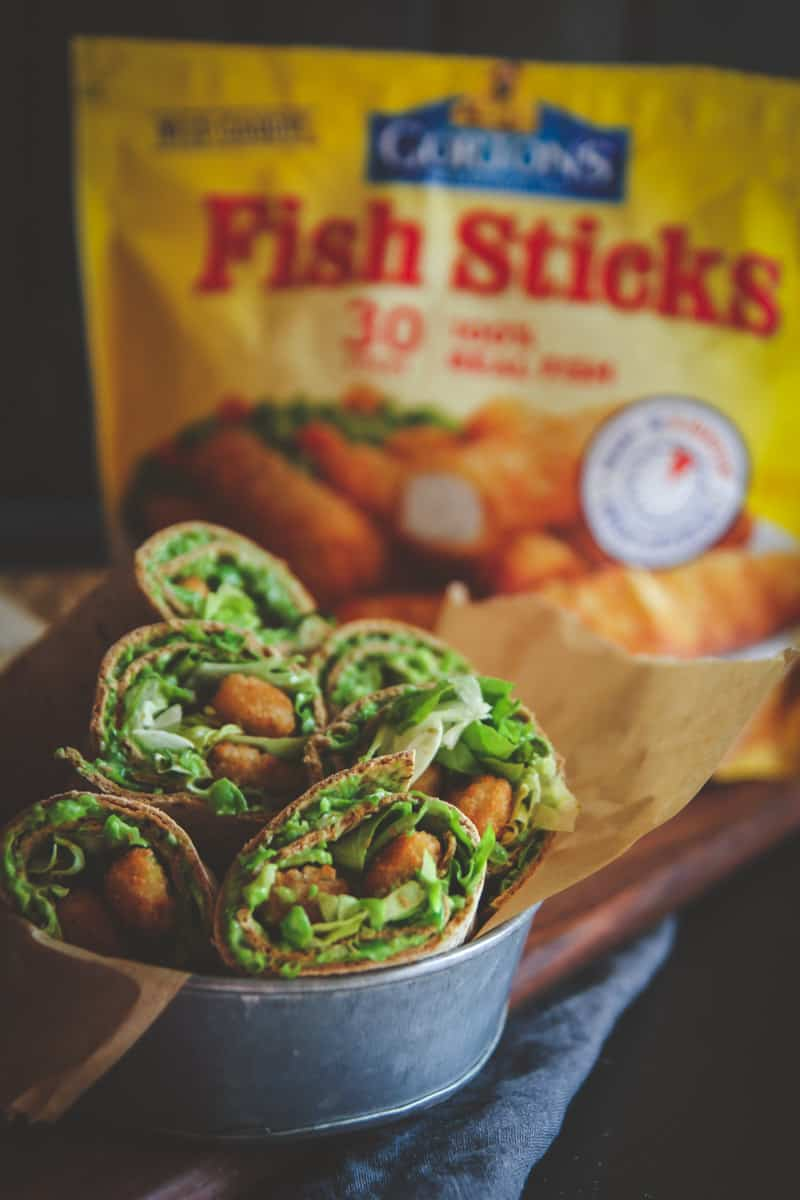 Quick and easy wraps with Gorton's fish sticks