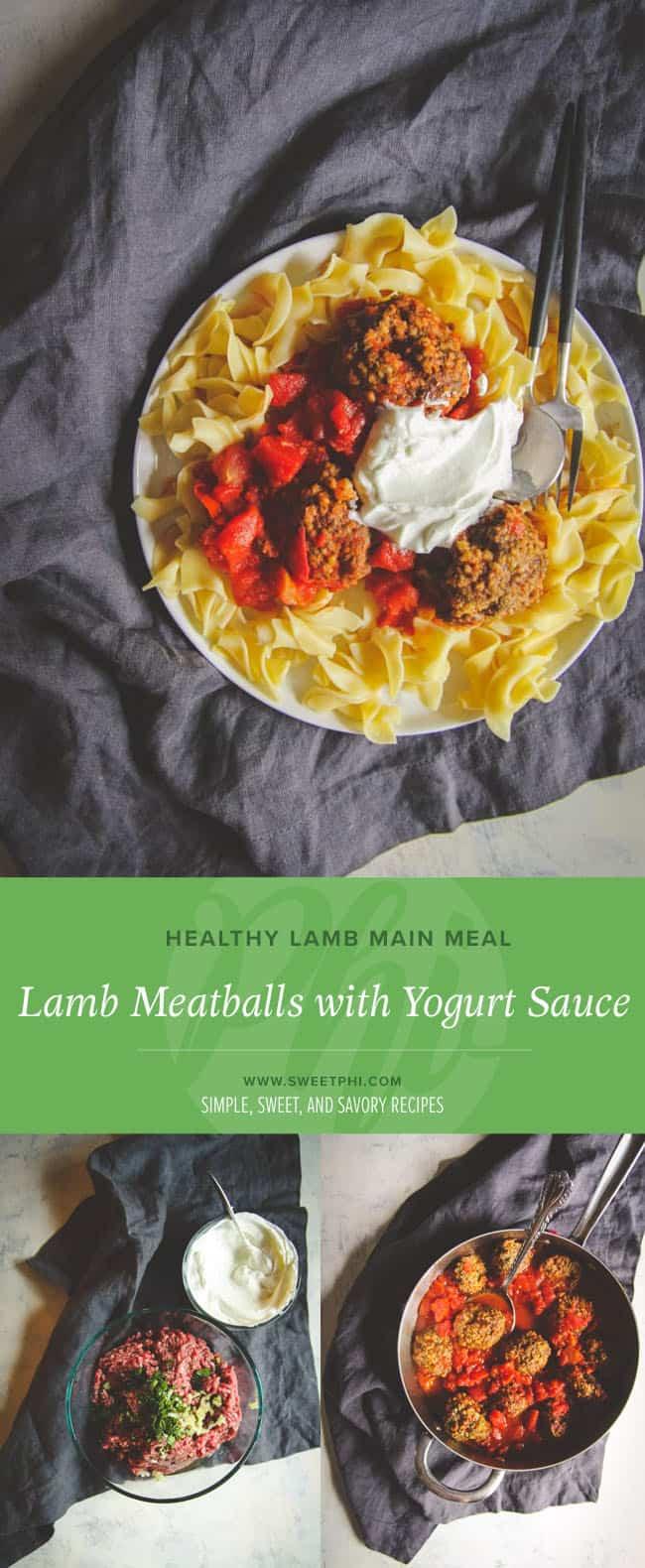 The best ever lamb meatballs and homemade yogurt sauce
