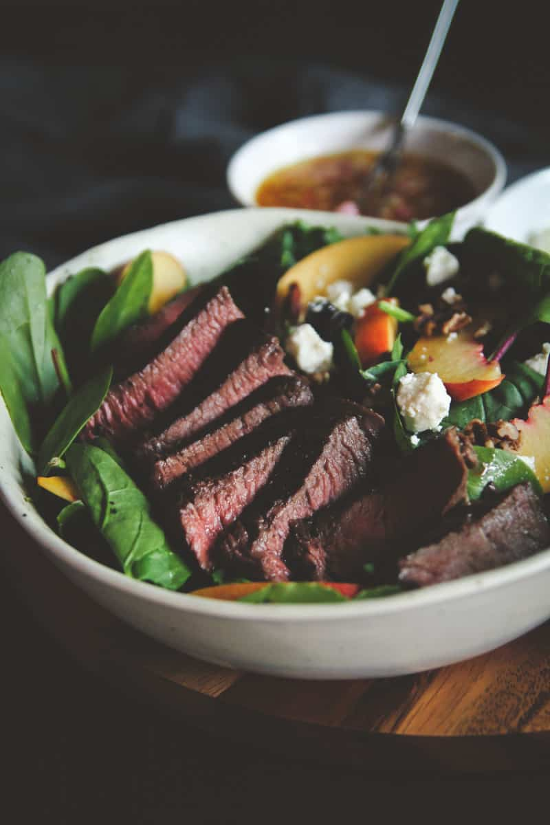 The most delicious steak and nectarine salad