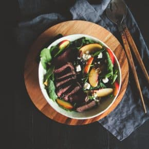 steak and nectarine salad recipe