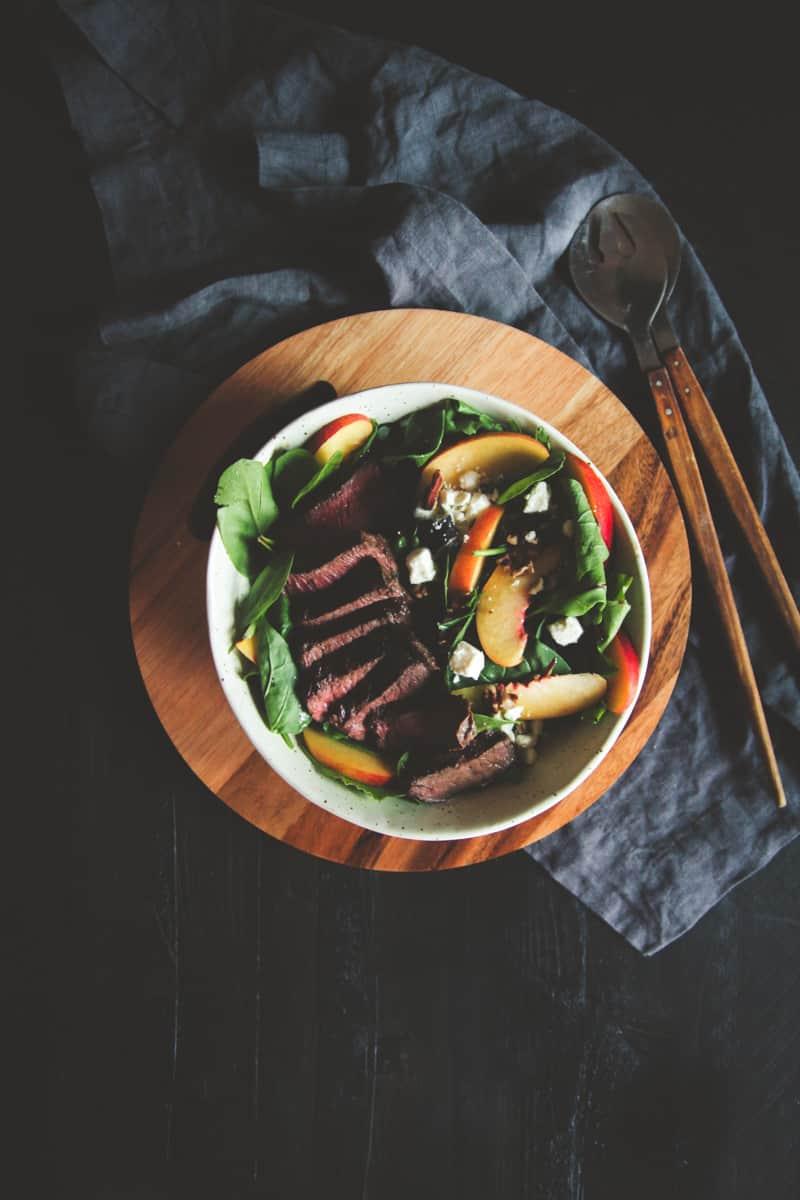 The best ever steak and nectarine salad recipe