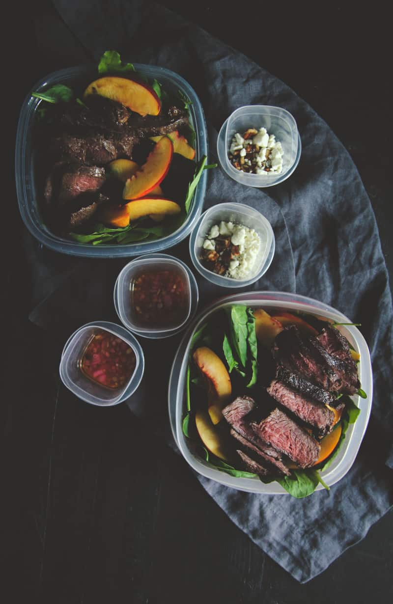 How to meal prep the best steak and nectarine salad