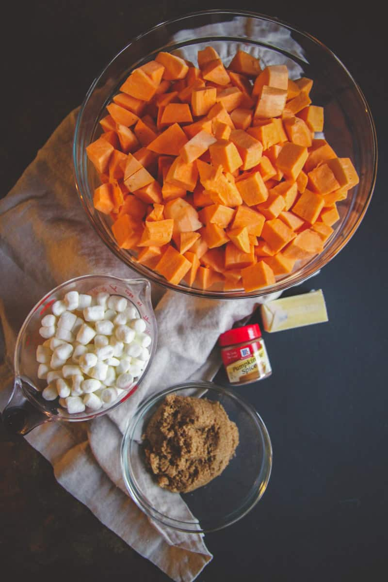 5 ingredient slow cooker crockpot sweet potato casserole for Thanksgiving