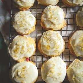 Eggnog Christmas cookies recipe, cookie exchange party recipe