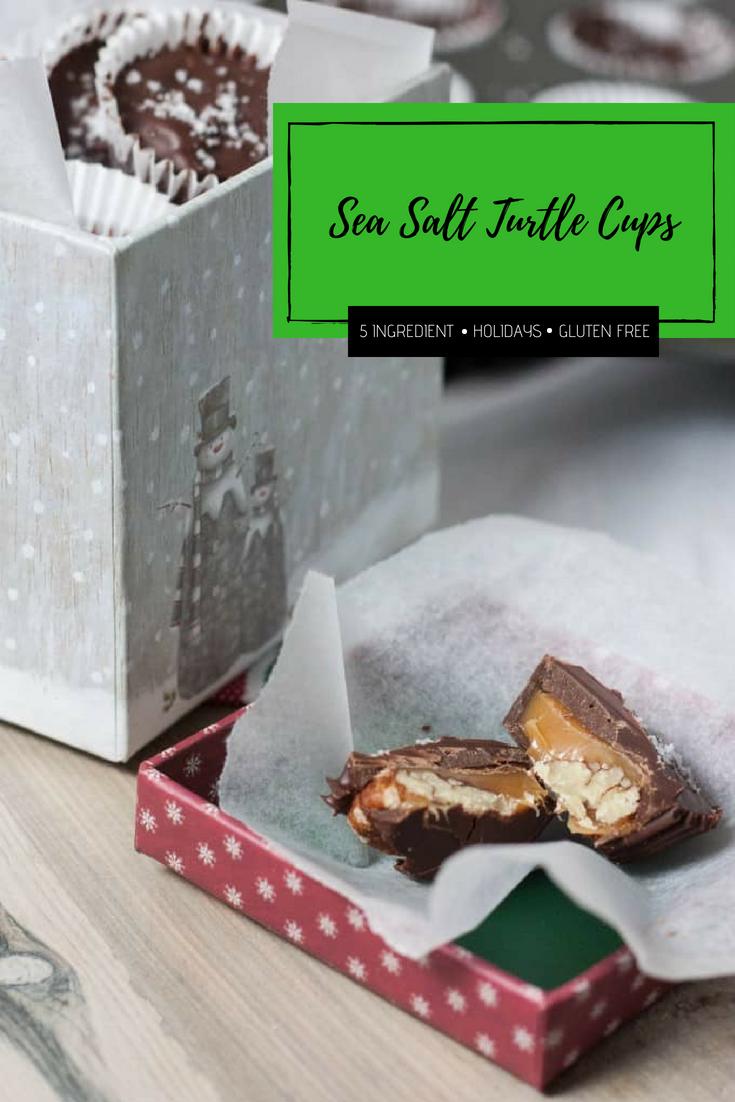 DIY Holiday gift idea - delicious sea salt turtle cups