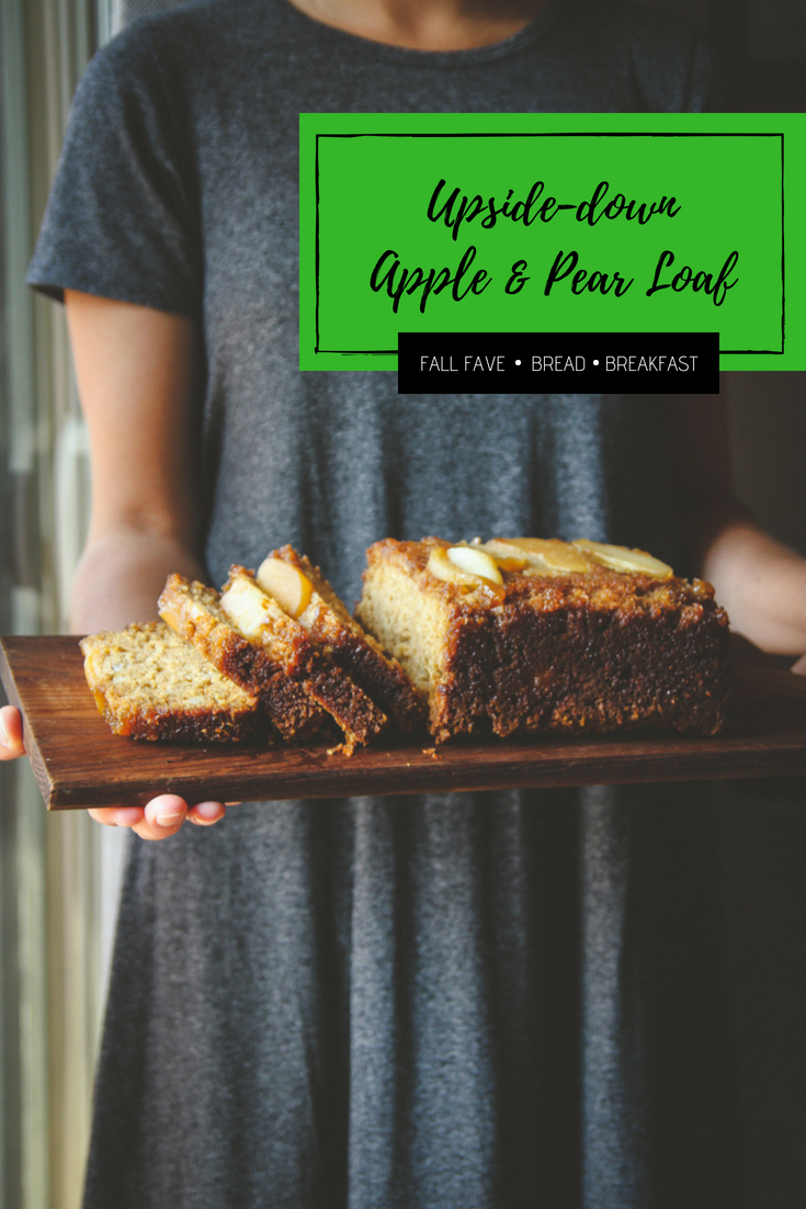 Upside down apple and pear loaf recipe