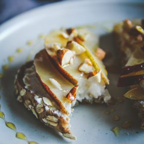 Ricotta Pear Almond Honey Toast