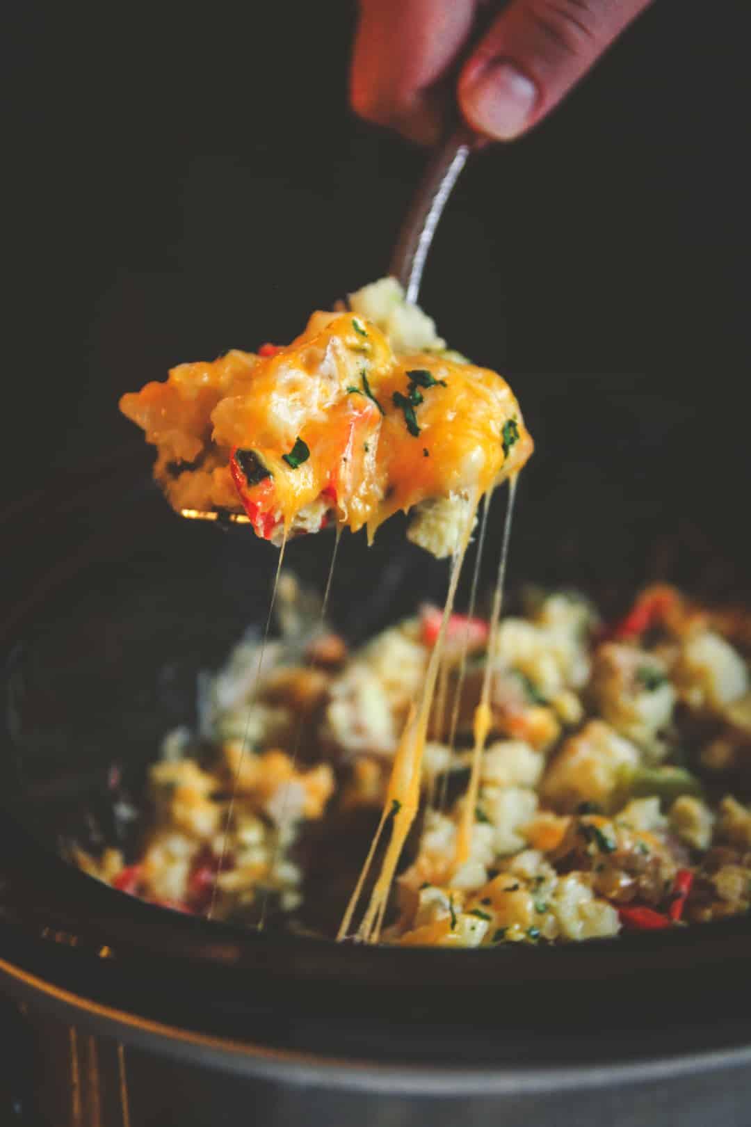 Healthy slow cooker breakfast casserole - overnight breakfast casserole