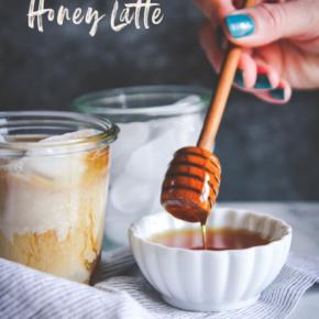 Iced salted honey latte