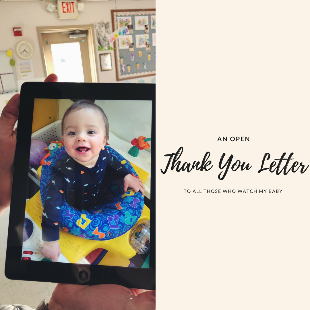 An open thank you letter for all those who watch my baby