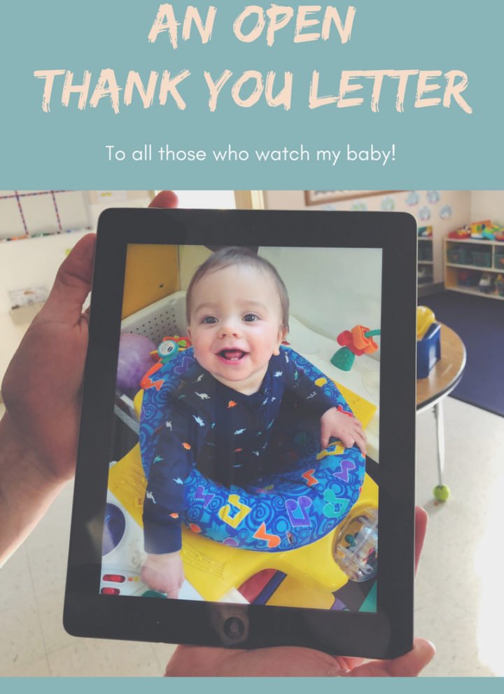 An open thank you letter to all those who watch my baby