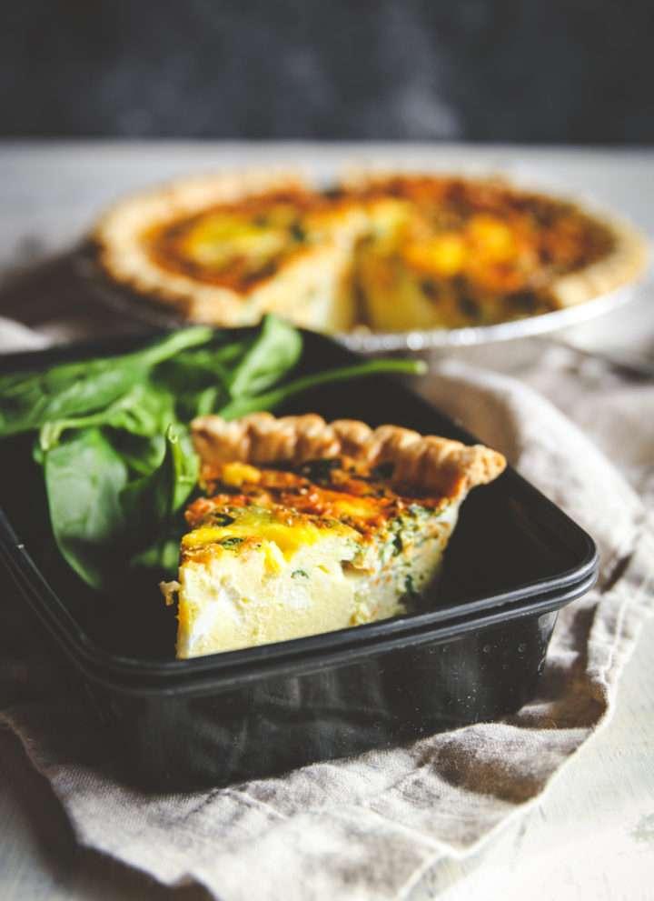Make ahead freezer meals quiche recipe, make ahead freezer quiche, vegetarian or prosciutto meal prep quiche recipes, meal prep recipes