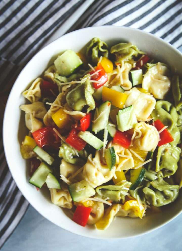 Best 5 ingredient tortellini pasta salad recipe