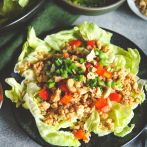 Easy Healthy Asian Ground Turkey Lettuce Wrap Salad