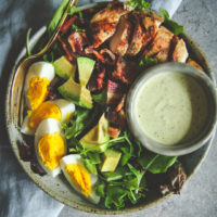 Panera green goddess cobb salad recipe, healthy and filling grilled chicken salad recipe, filling salad recipe