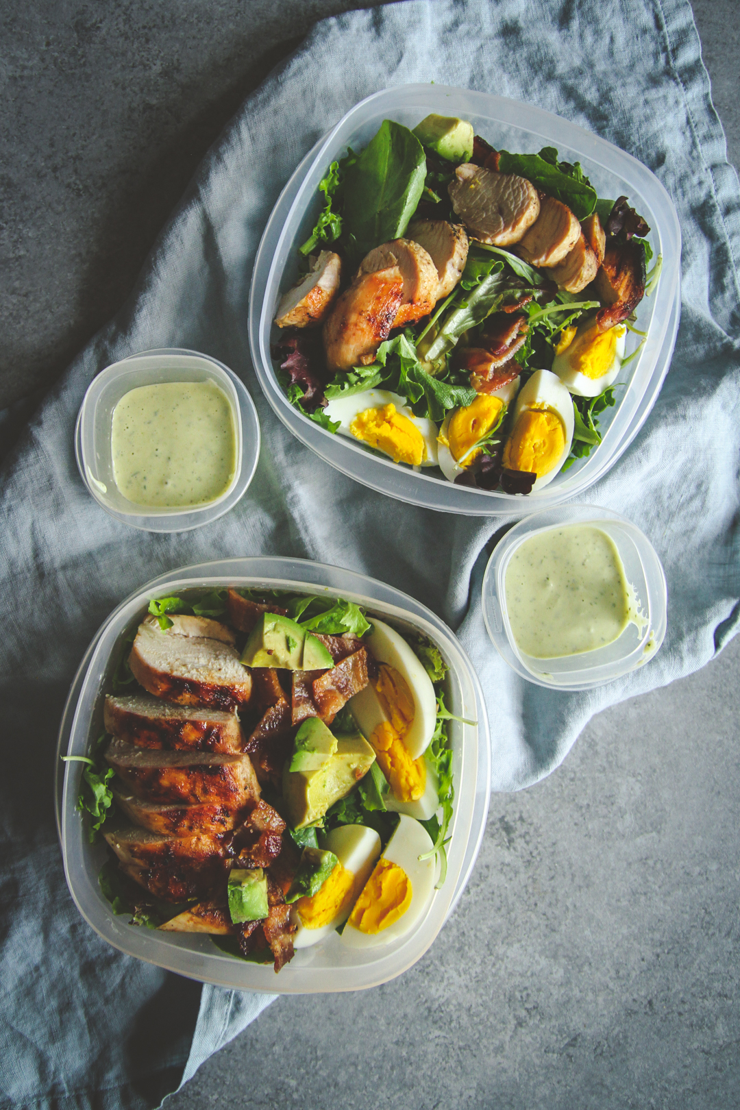 Panera green goddess cobb salad recipe, healthy and filling grilled chicken salad recipe, filling salad recipe