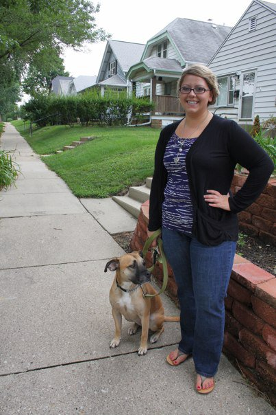 A photo of me with my rescue dog Clover