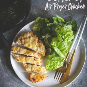 5 ingredient crispy cheesy air fryer chicken
