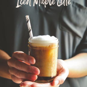 Homemade iced maple latte