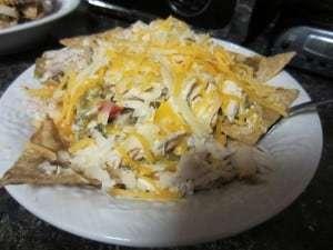 Chicken Green Chile Nachos