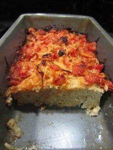 Parmesan Tomato Crusted Turkey Meatloaf