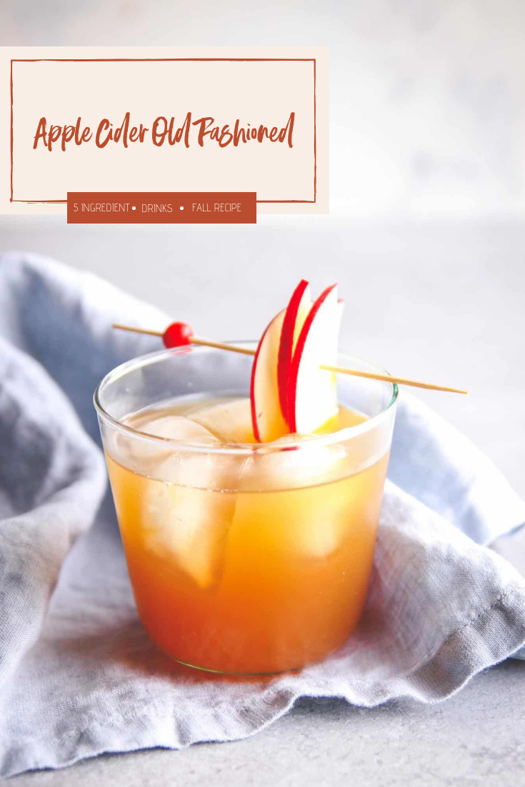 The best old fashioned cocktail with apple cider