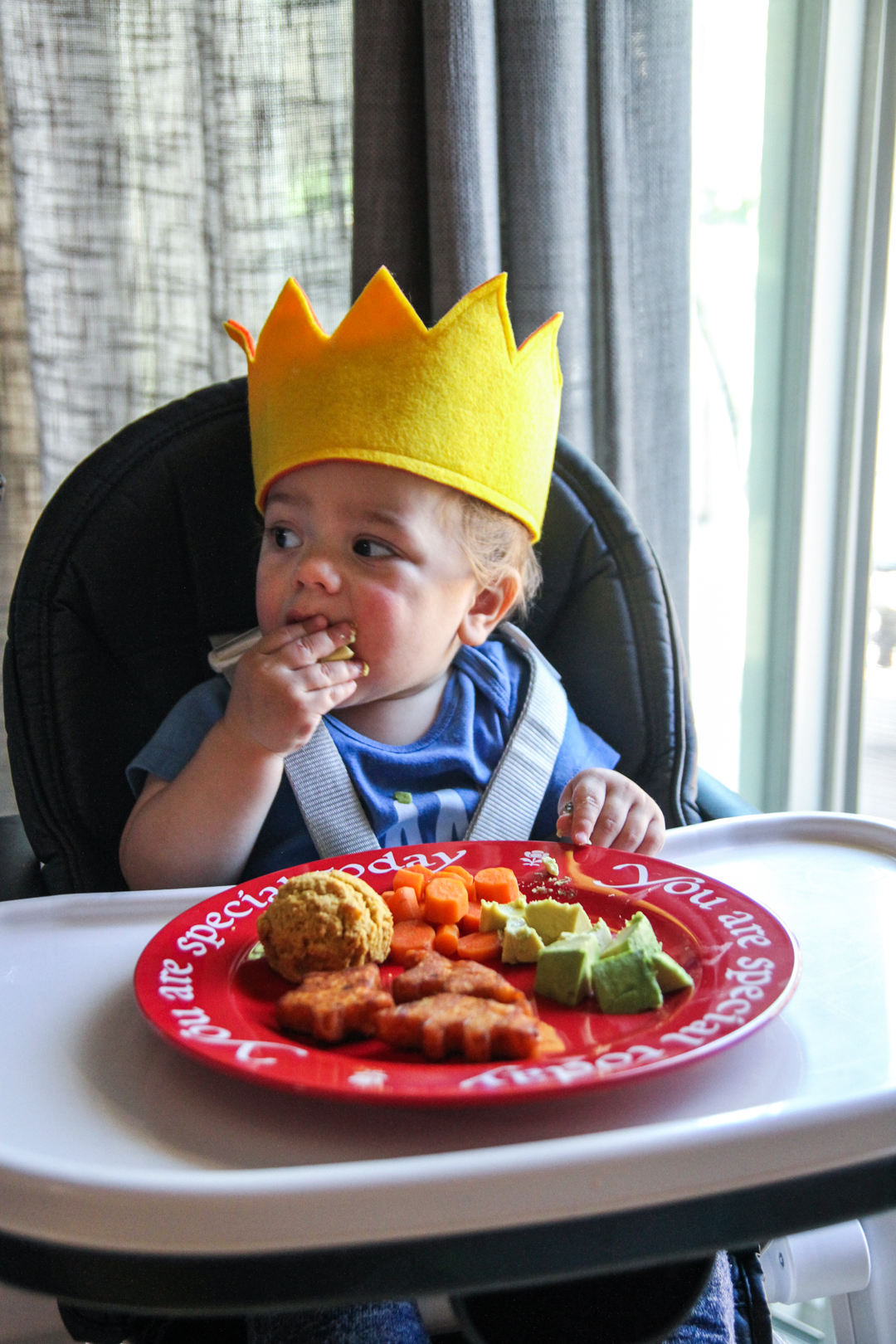 Bens first birthday, felt birthday crown