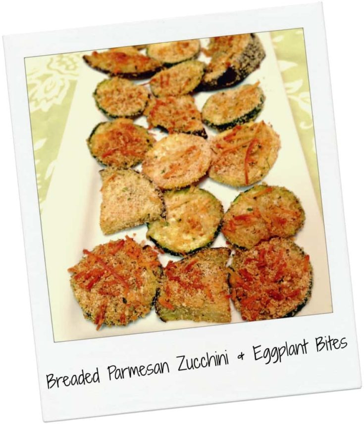 Five Ingredient Fridays Breaded Parmesan Zucchini Eggplant Bites