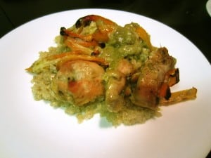 Cheesy Green Chile Pepper Chicken and Quinoa