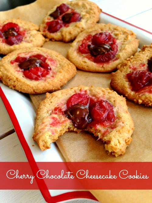 Cherry Chocolate Cheesecake Cookies