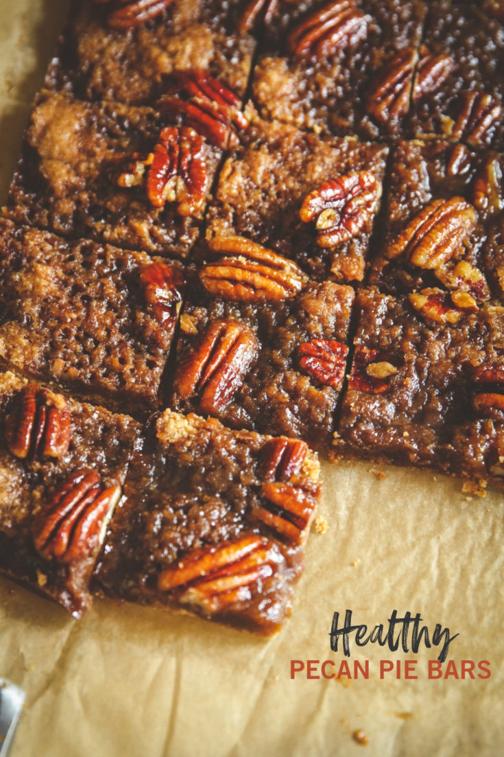 Healthy Pecan Pie Bars
