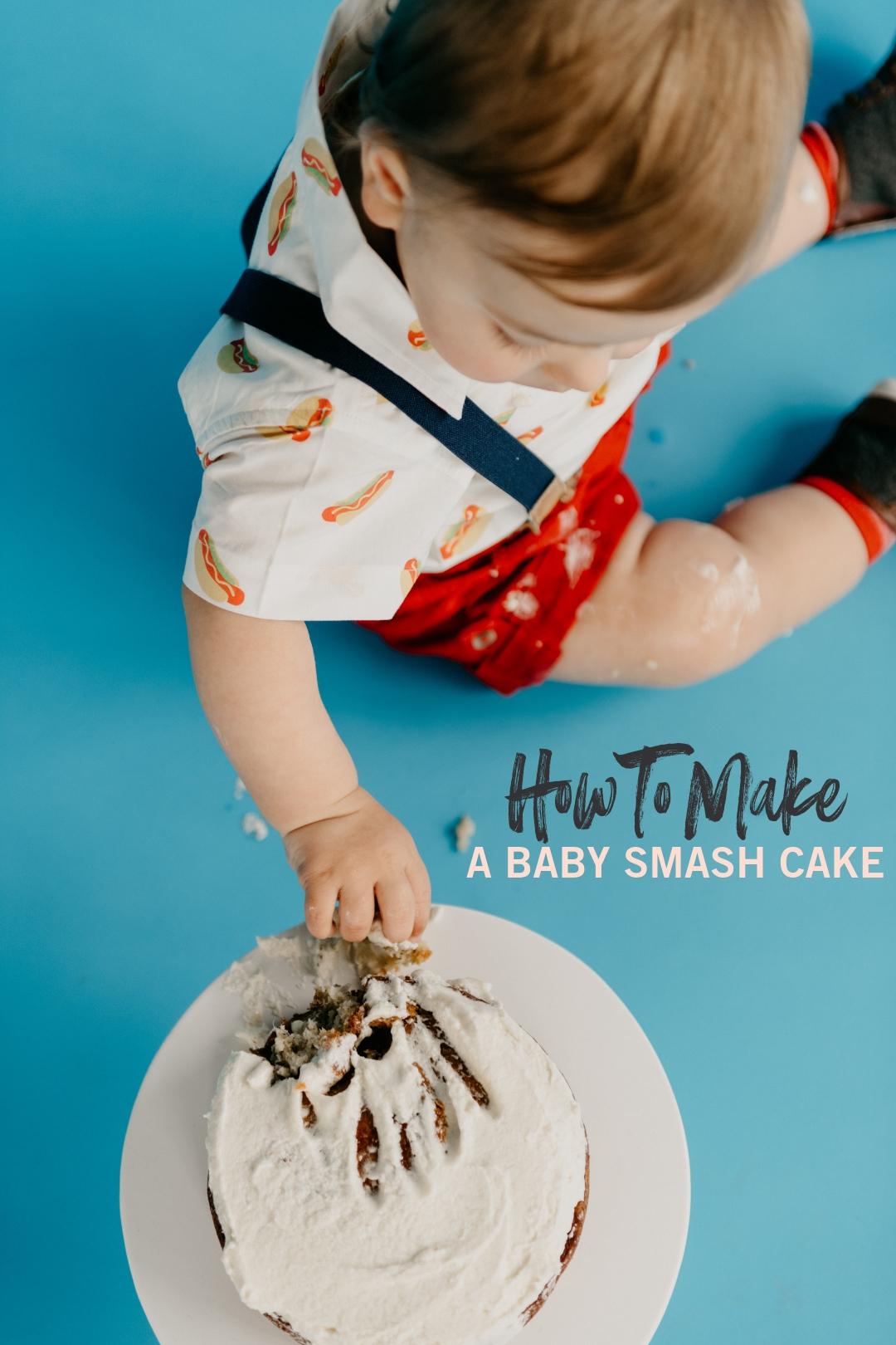 Groovy How To Make A Baby Smash Cake A Simple 1St Birthday Party Sweetphi Funny Birthday Cards Online Elaedamsfinfo