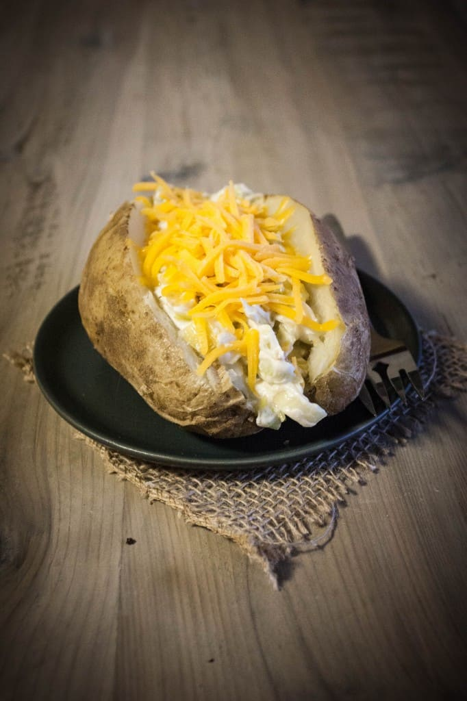 Leek Stuffed Baked Potato