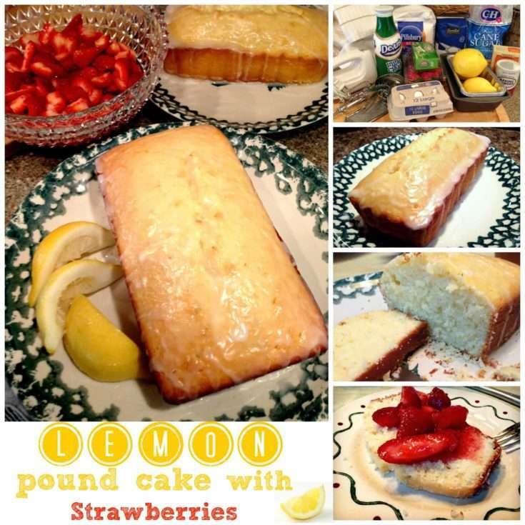 Lemon Pound Cake with Strawberries