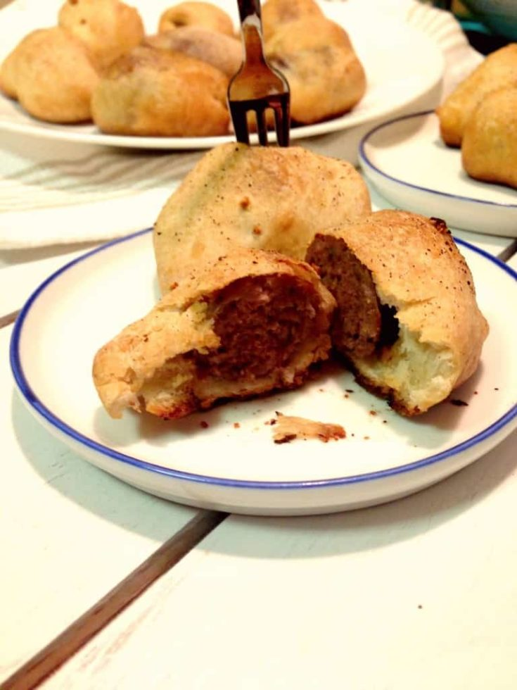 Sausage stuffed dinner rolls