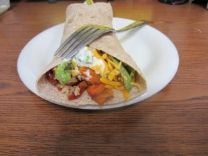 Sweet Potato Roasted Bell Pepper Burrito